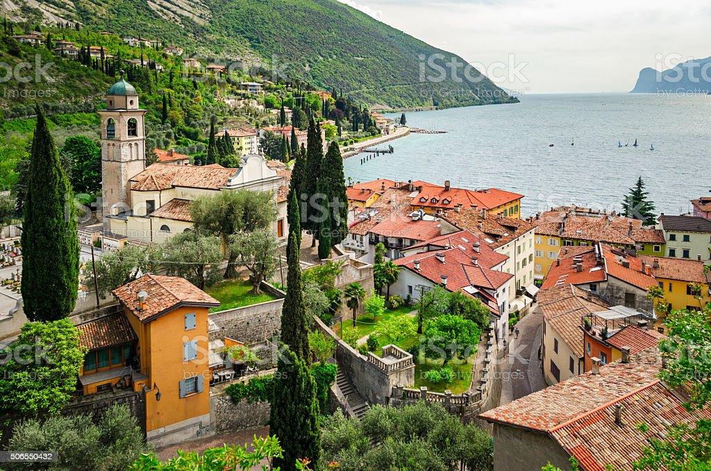 Lago di Garda Torbole (Italy) stock photo