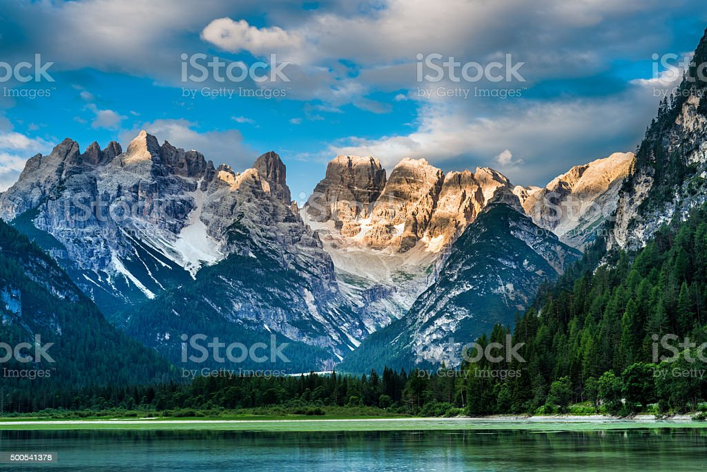 Lago di Landro (Dürrensee), Dolomites in South Tyrol, Italy stock photo