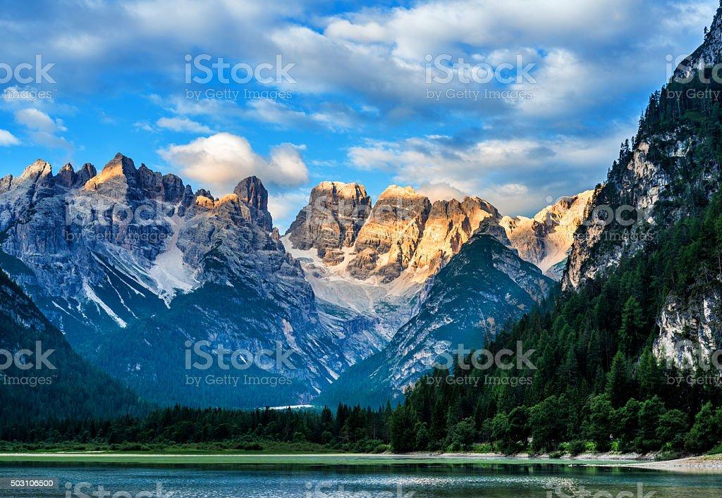 Lago di Landro (Dürrensee), Dolomites in South Tyrol, Italy stock photo