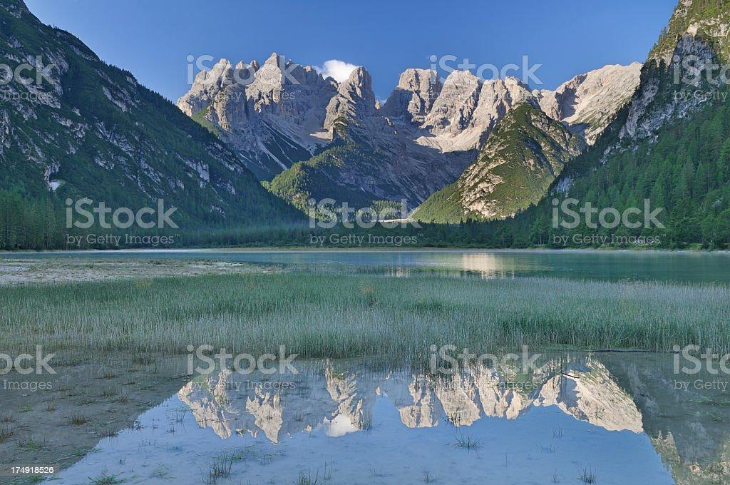 Lago di Landro - Durrensee (Dolomiti) stock photo
