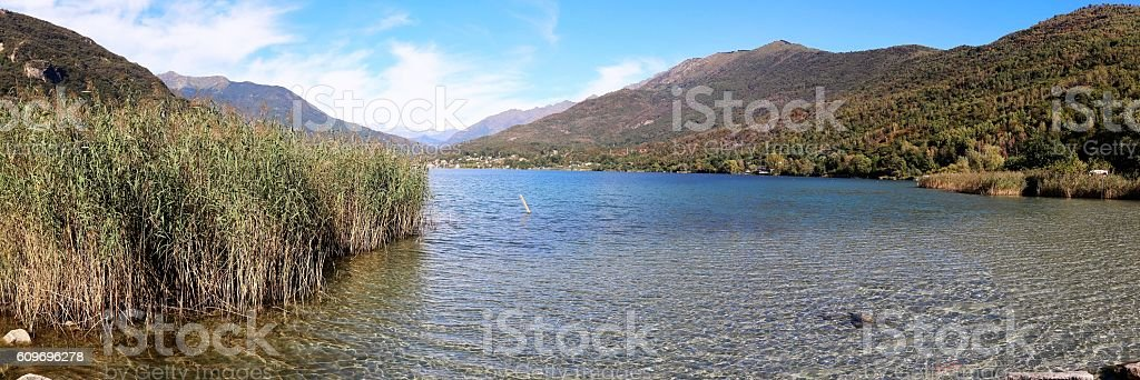Lago di Mergazzo, Italy stock photo