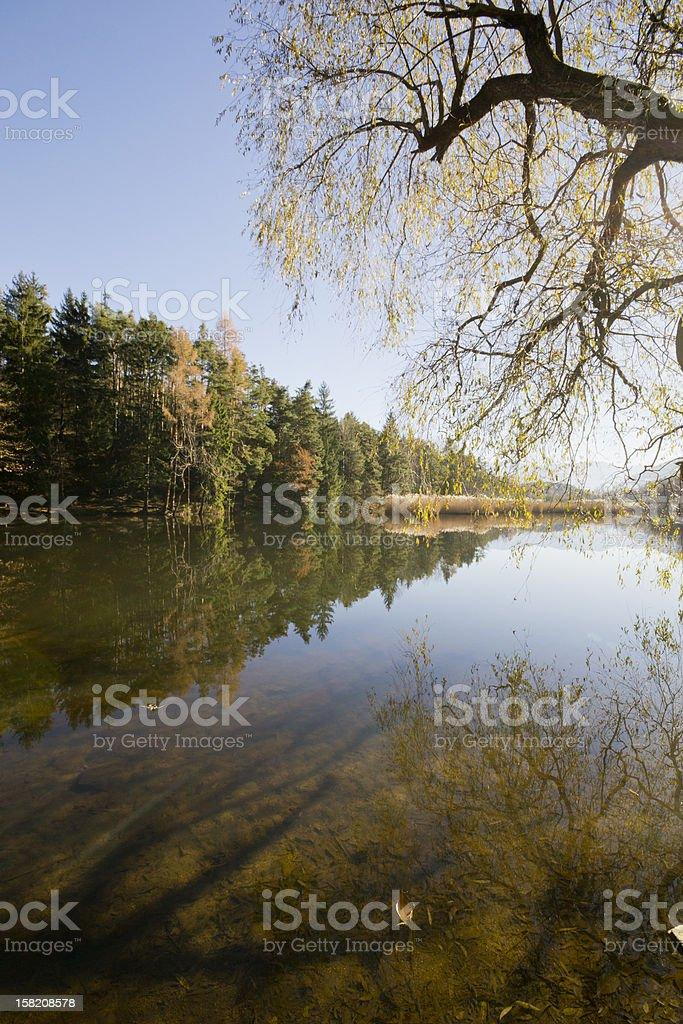 Lago di montagna e riflessi royalty-free stock photo
