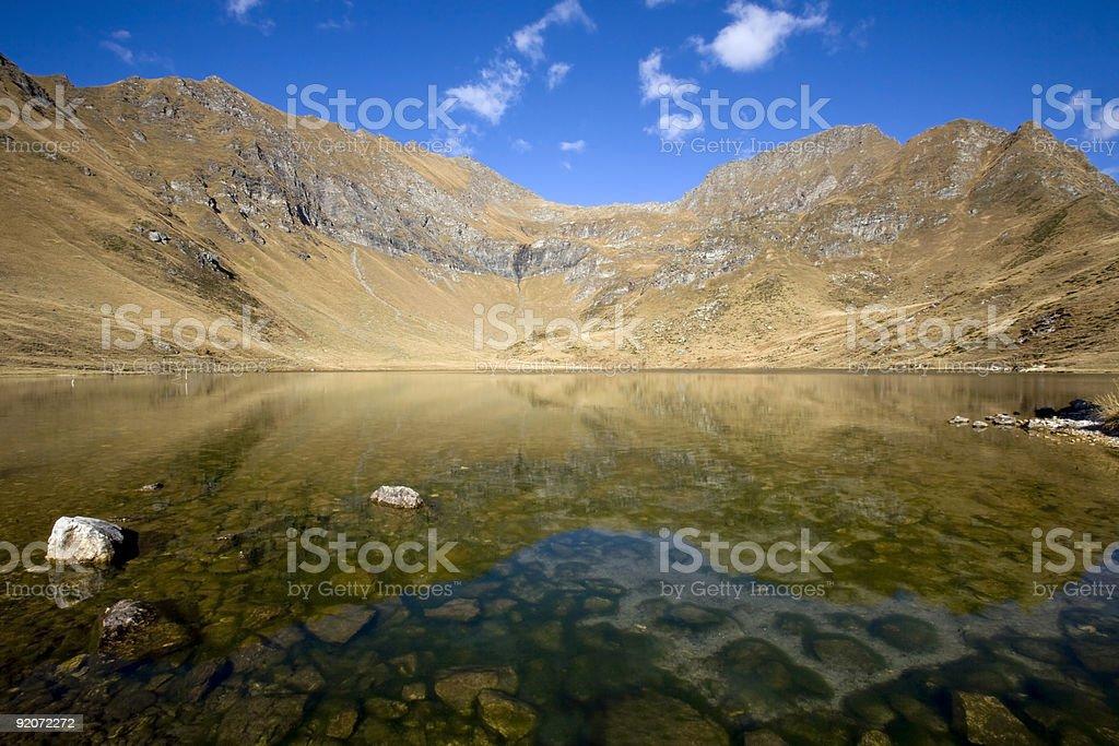 Lago di Tom royalty-free stock photo