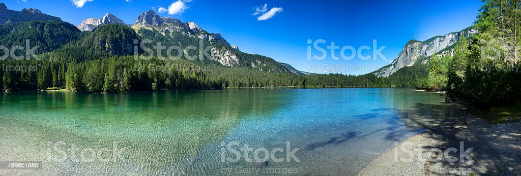 Lago di Tovel stock photo