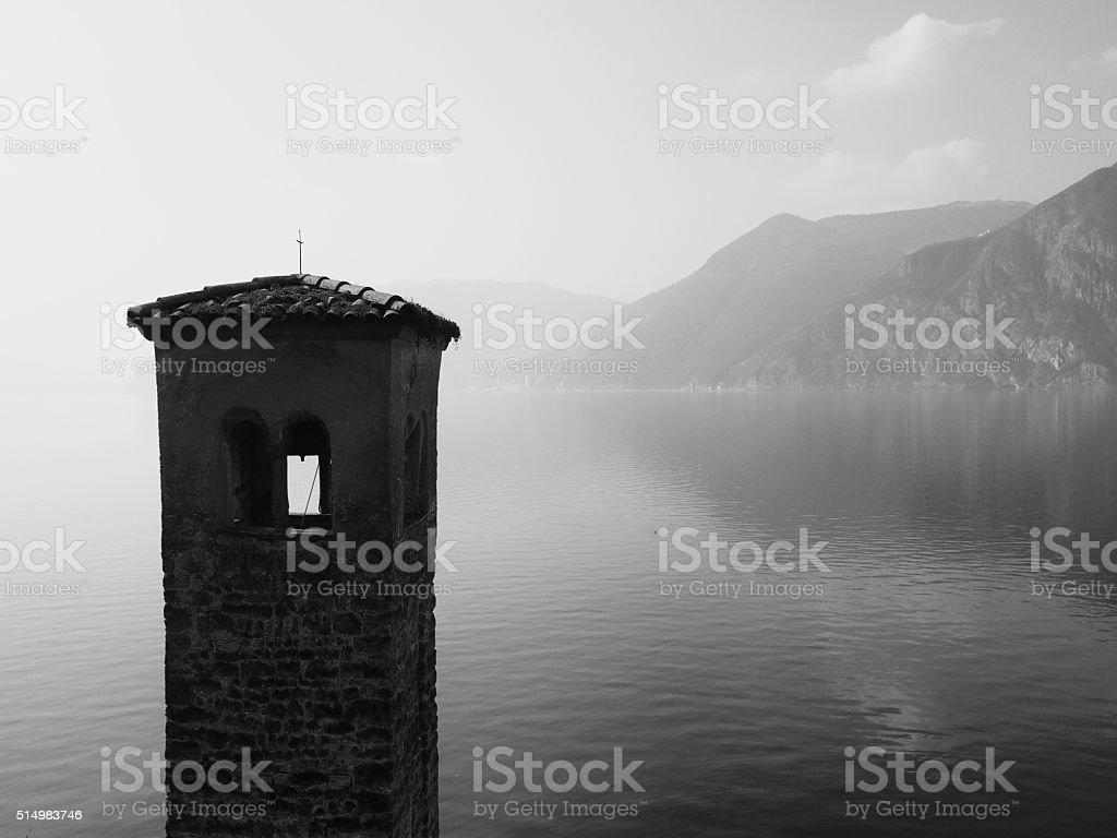 Lago d'Iseo stock photo