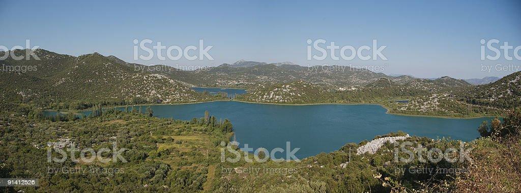 Lago en Croacia stock photo