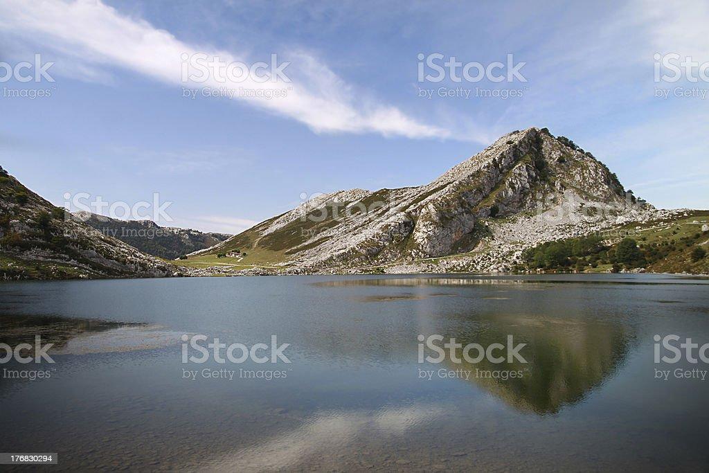 Lago Enol - Picos de Europa royalty-free stock photo