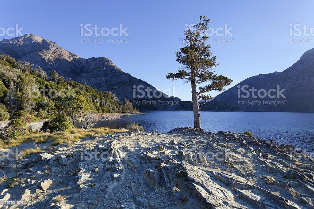 Lago Escondido, Bariloche, Argentina stock photo