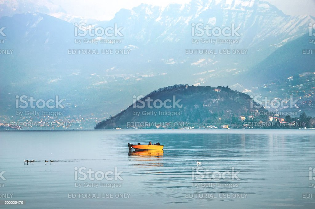 Lago Iseo - Monte Isola - Brescia stock photo