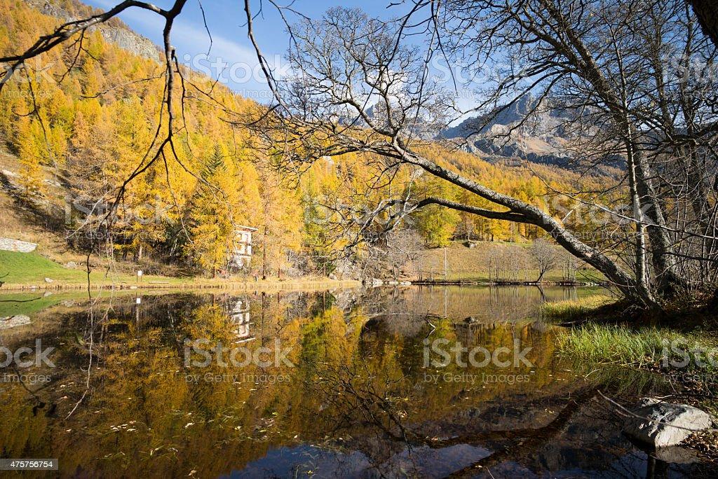 lago loz reflections stock photo