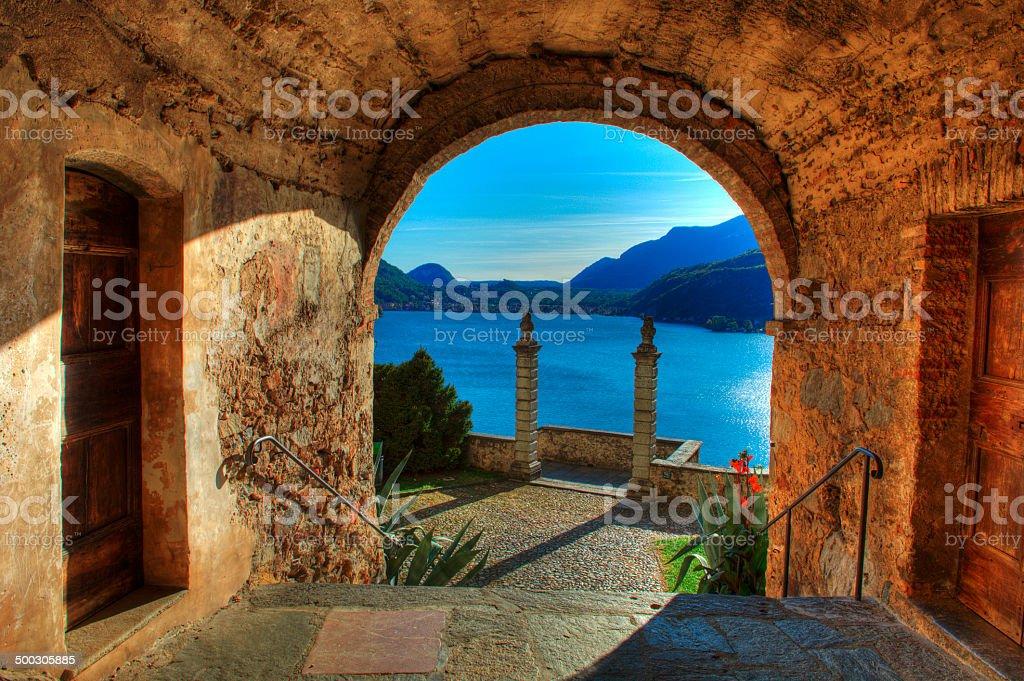 Lago Lugano stock photo