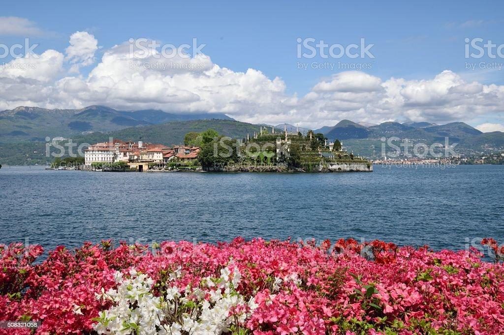Lago Maggiore and Isola Bella in springtime, Italy stock photo
