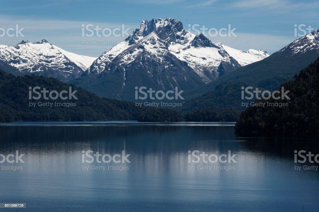 Lago Mascardi stock photo