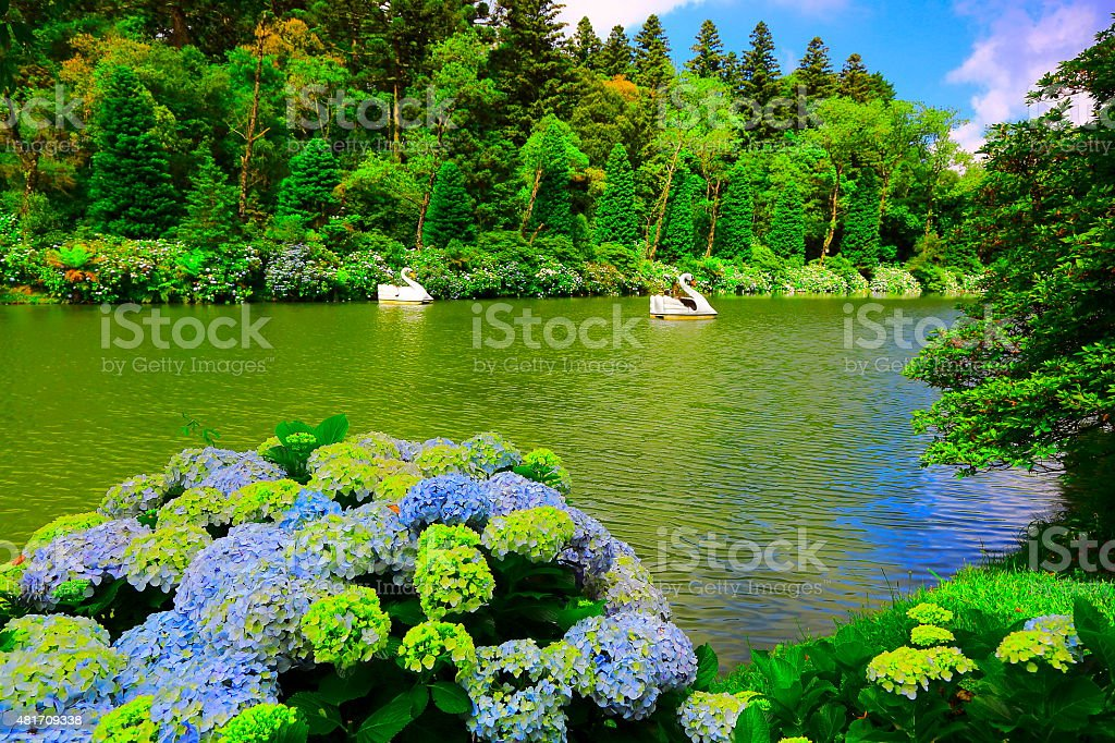 Lago Negro (Black Lake) - Gramado, Southern Brazil stock photo