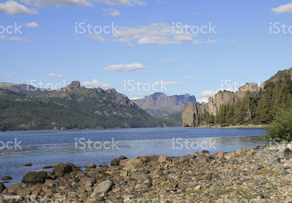 Lago Traful near Bariloche royalty-free stock photo