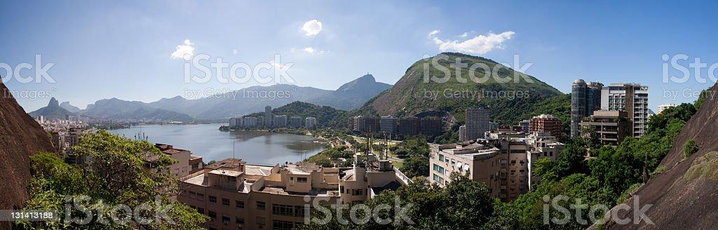 Lagoa Rodrigo de Freitas Panoramic royalty-free stock photo