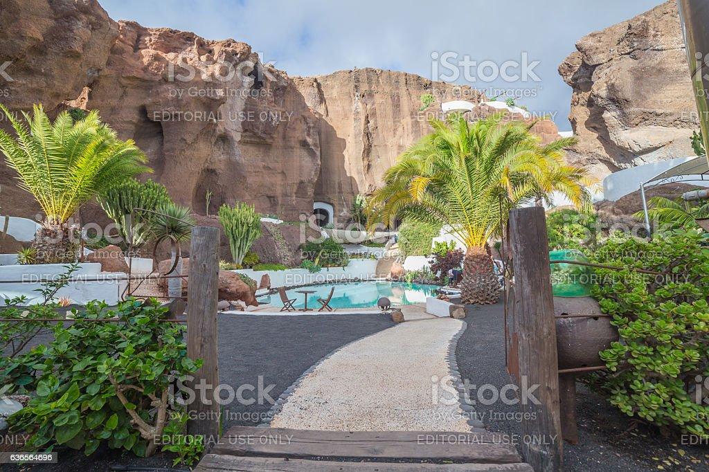 LagOmar House Museum in Lanzarote, in Spain stock photo