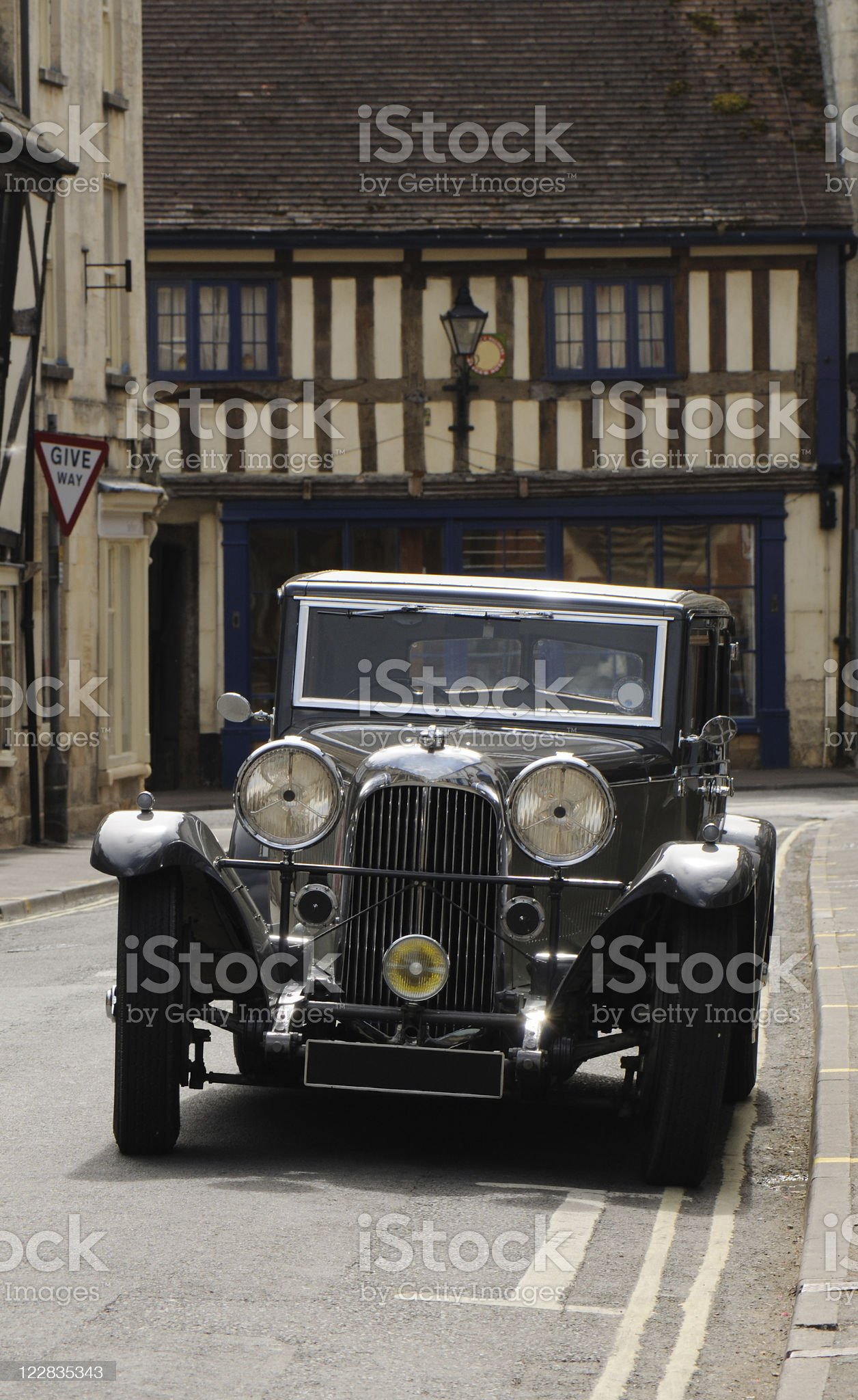Lagonda in Winchcombe royalty-free stock photo