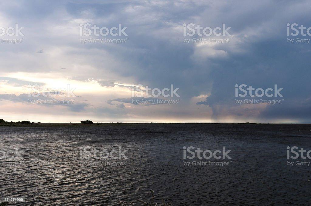 Lagoon and Sky royalty-free stock photo