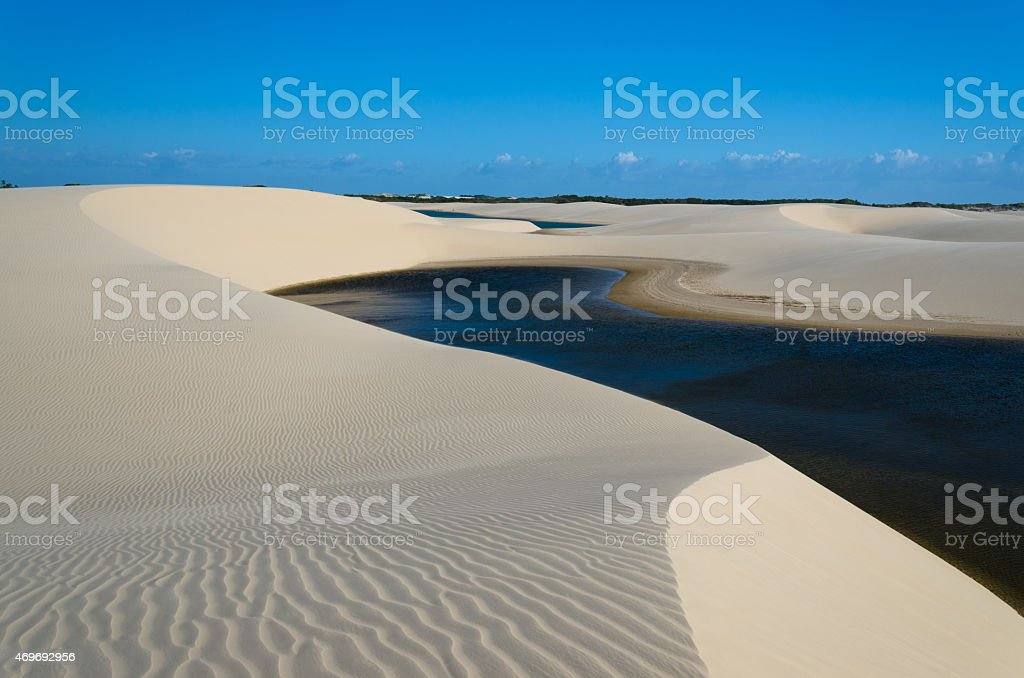 Lagoon, dunes and sand in a National Park stock photo