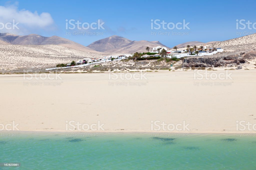 Lagoon, Fuerteventura royalty-free stock photo