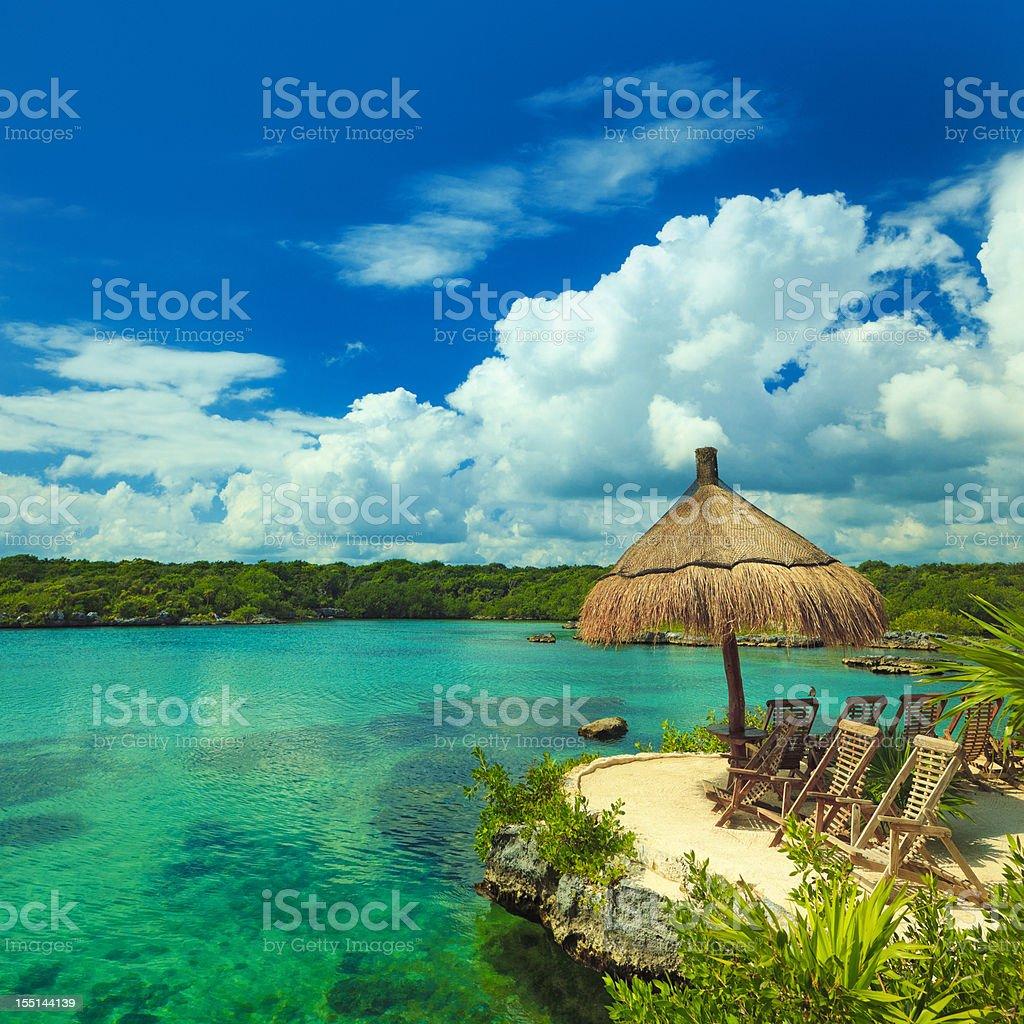 lagoon in mexico stock photo