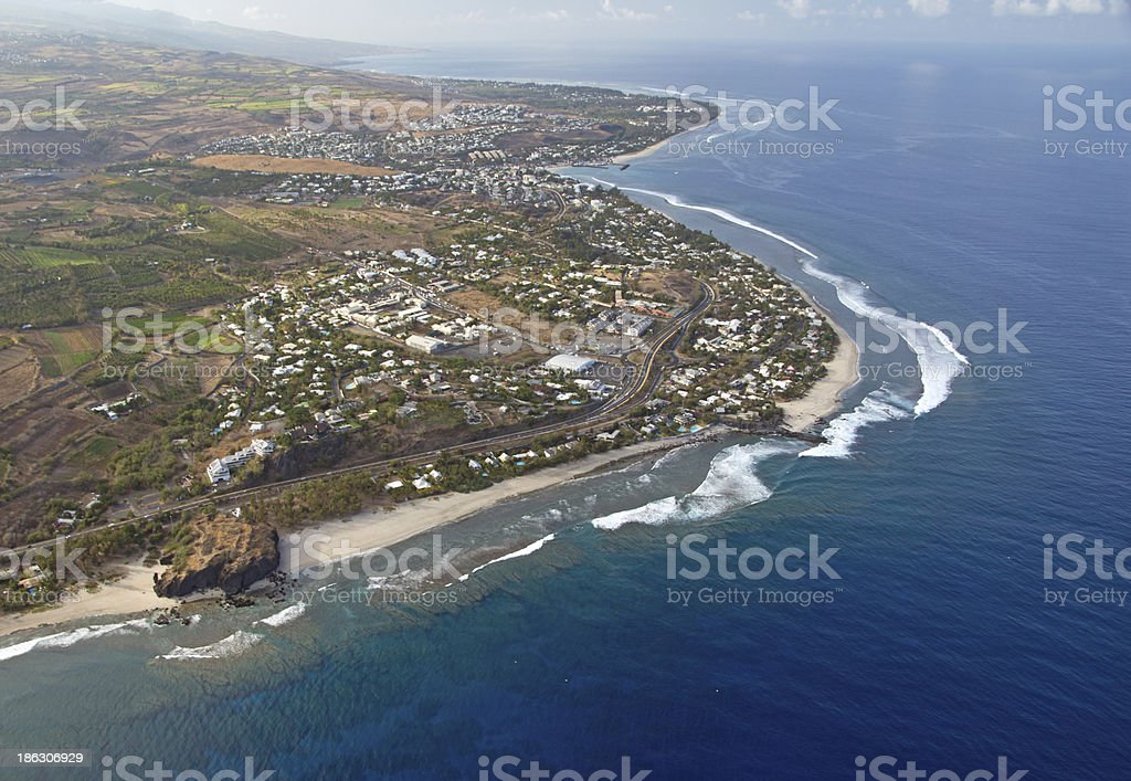Lagoon in Reunion royalty-free stock photo