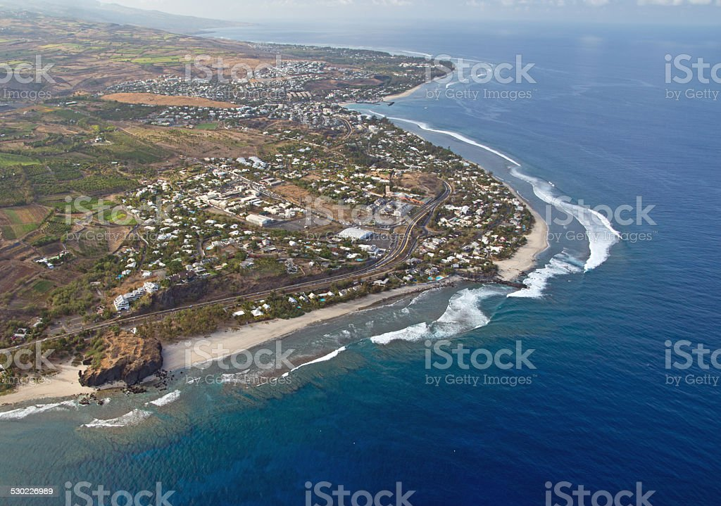 Lagoon in Reunion stock photo