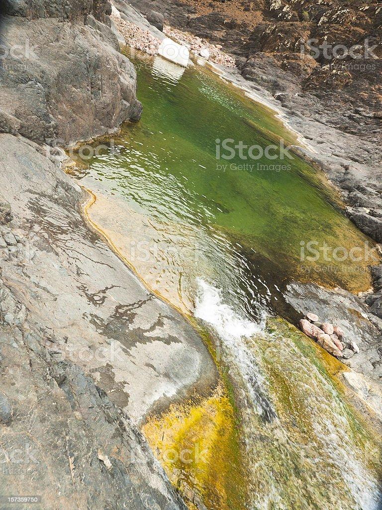 Lagoon in Socotra royalty-free stock photo