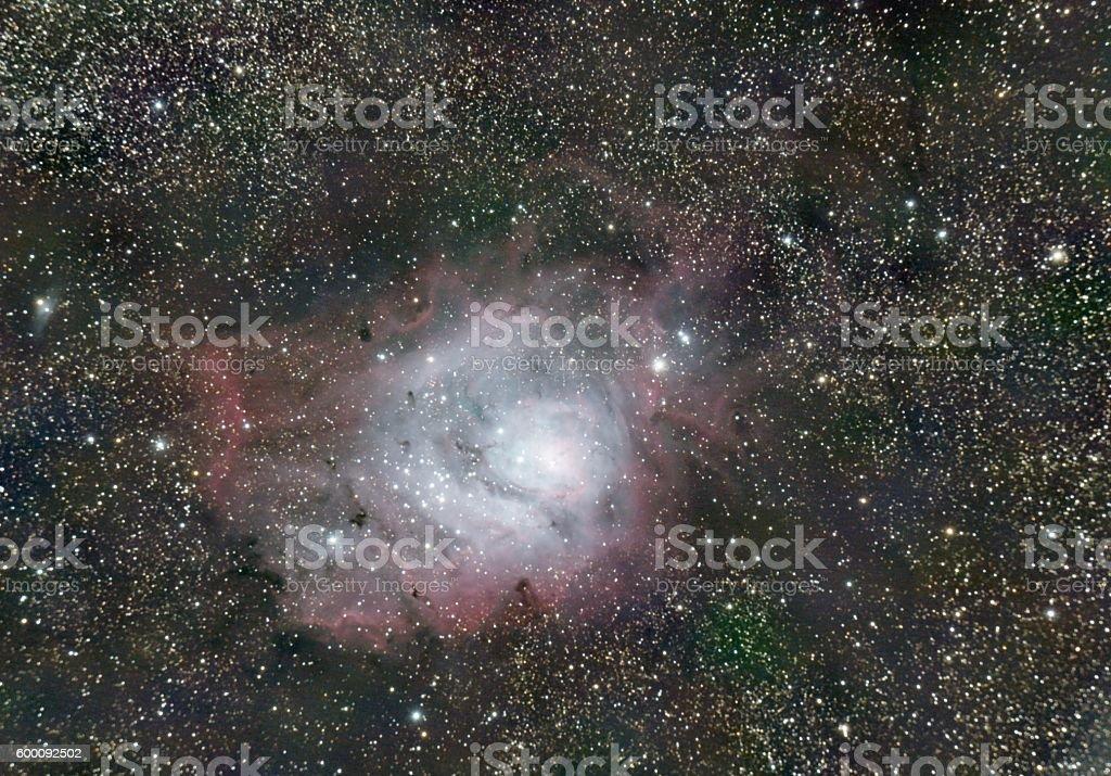 Lagoon Nebula stock photo