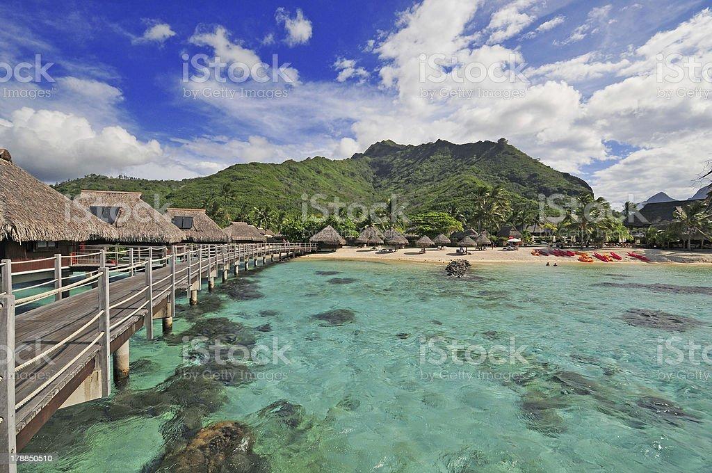Lagoon on Moorea, Tahiti, French Polynesia royalty-free stock photo