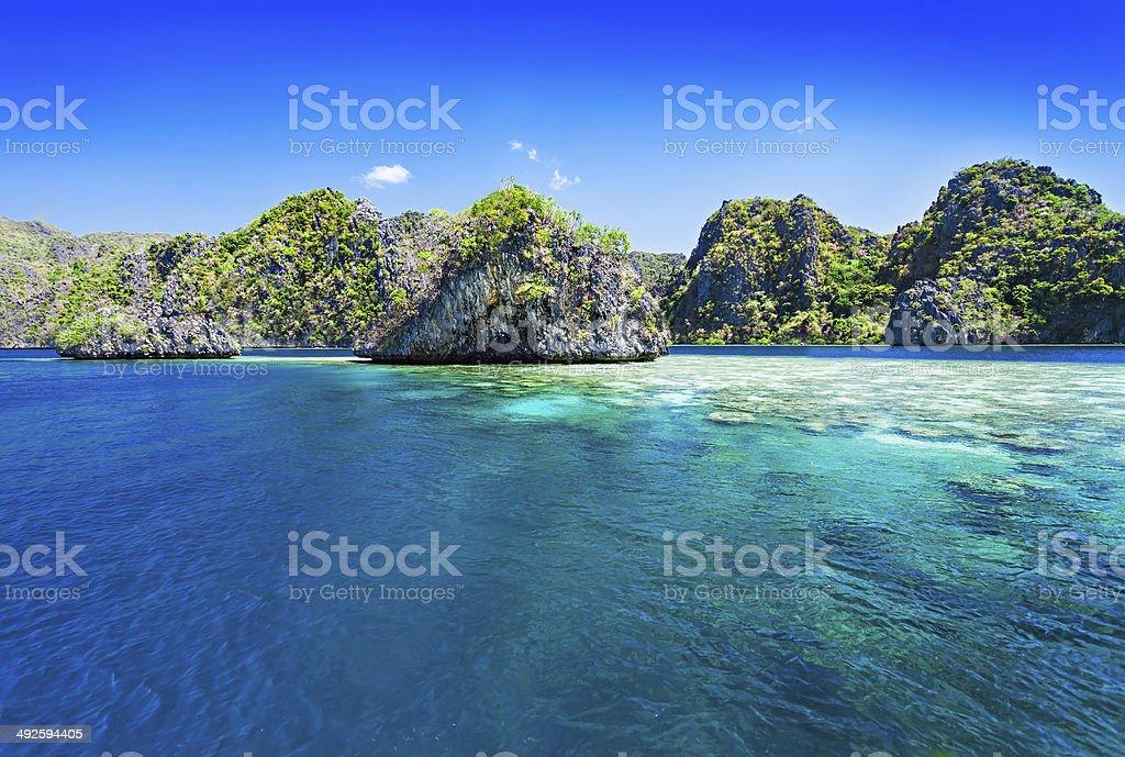 Lagoon stock photo