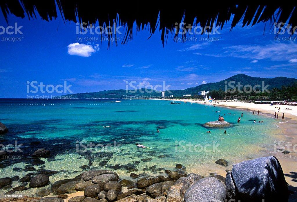 Lagoon scene in Phuket Thailand, Kata Beach stock photo