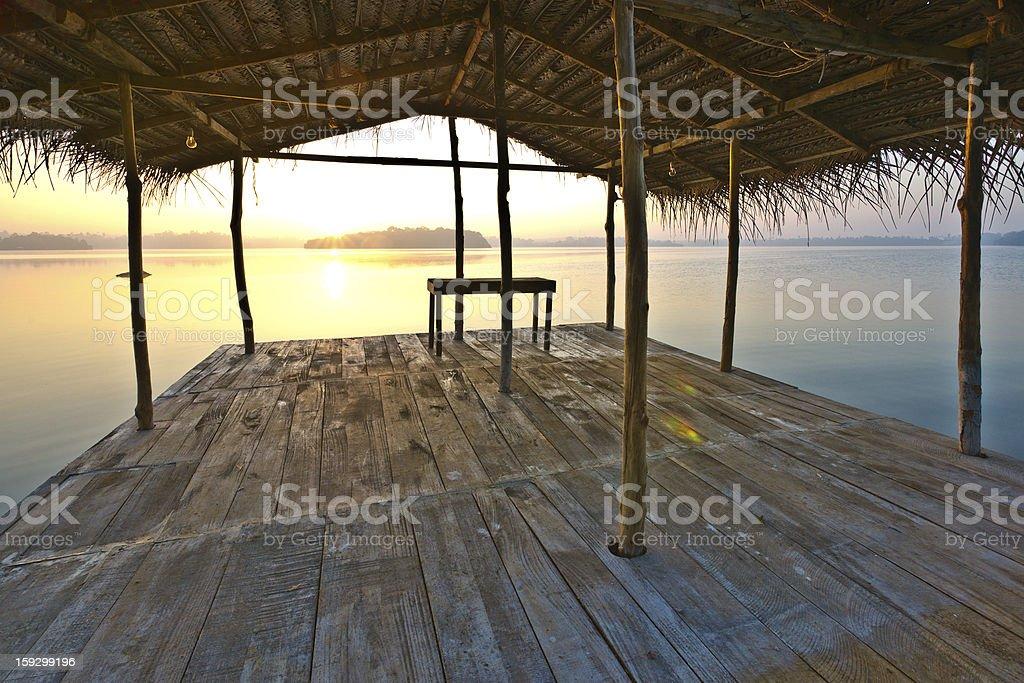 Lagoon Sunrise royalty-free stock photo