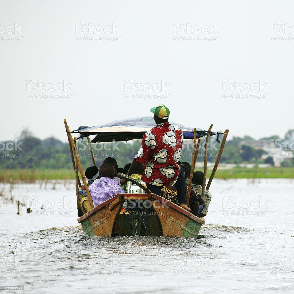 lagoon taxi stock photo