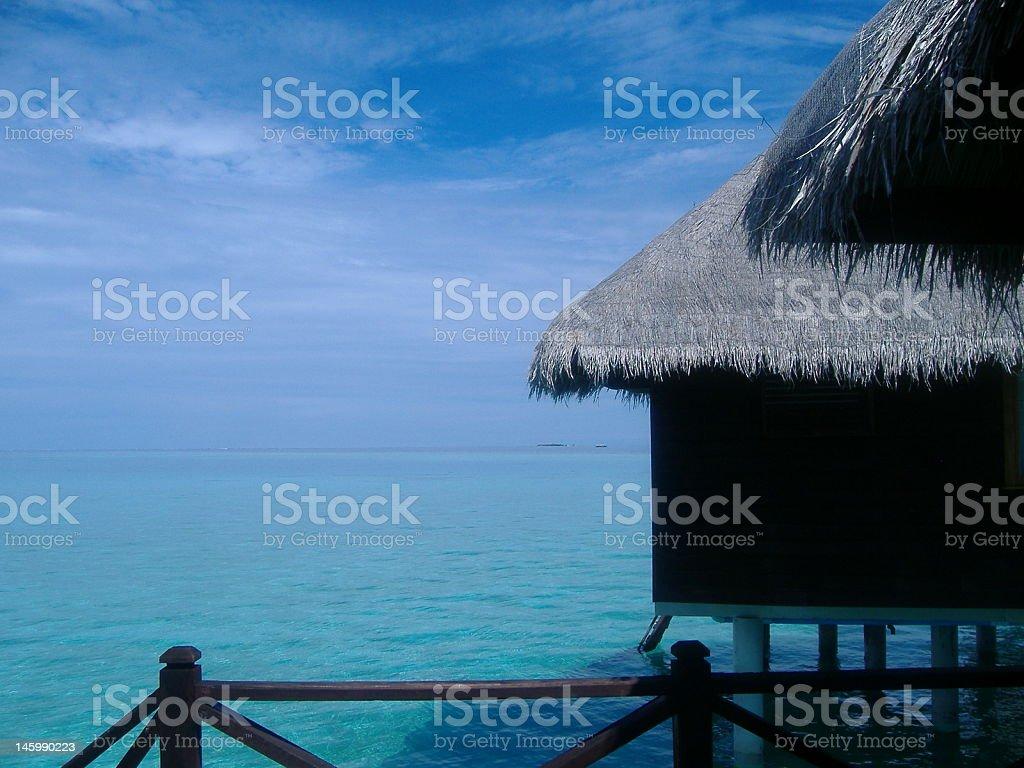 Lagoon Villa royalty-free stock photo