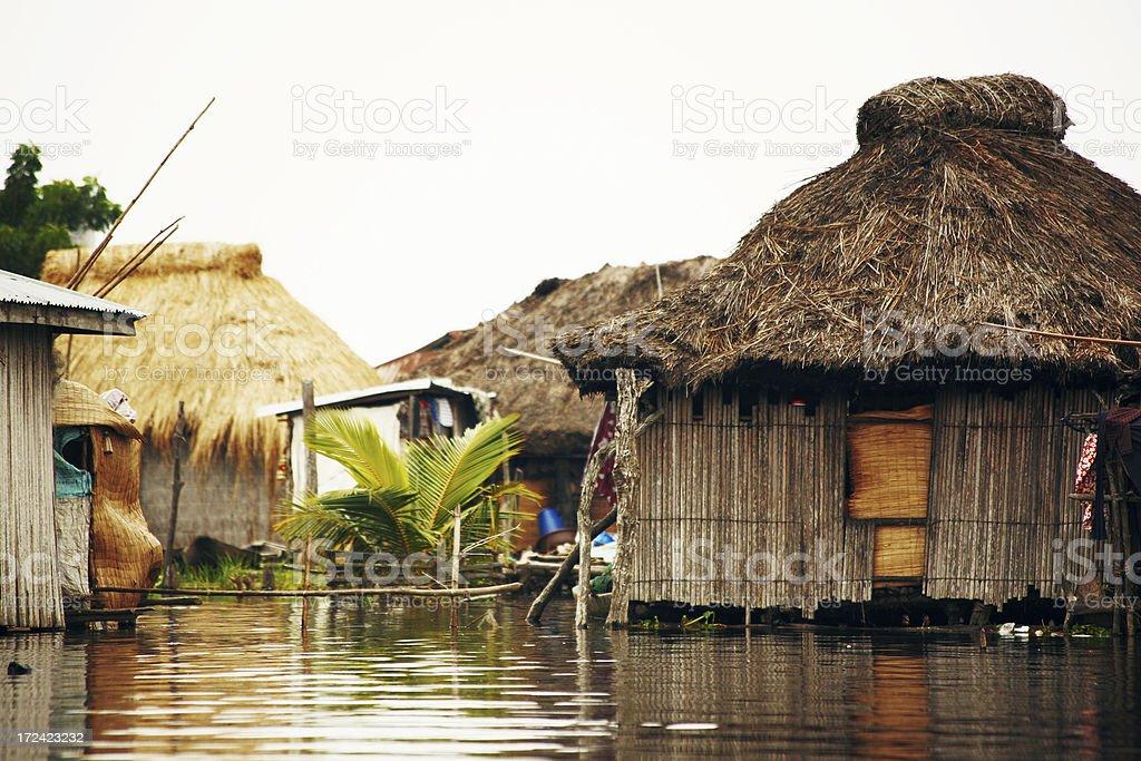 lagoon village royalty-free stock photo