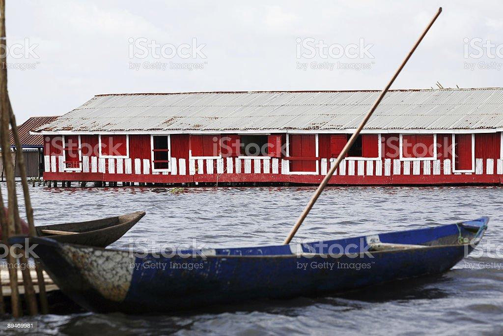 lagoon village stock photo