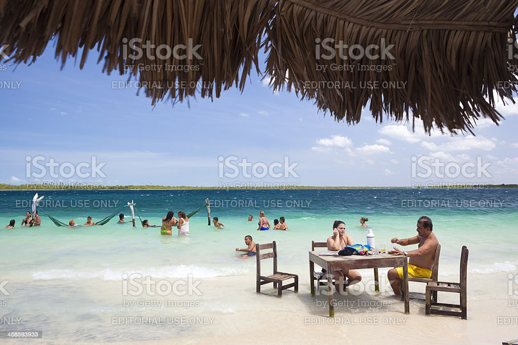 Lagoons of Jericoacoara, Brazil stock photo