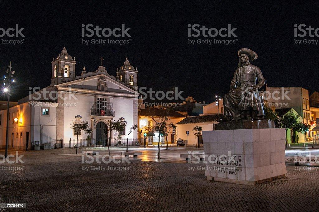 Lagos at night stock photo