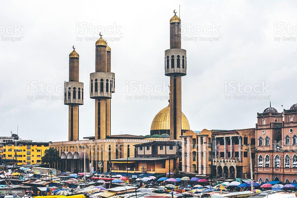 Lagos Central mosque. stock photo