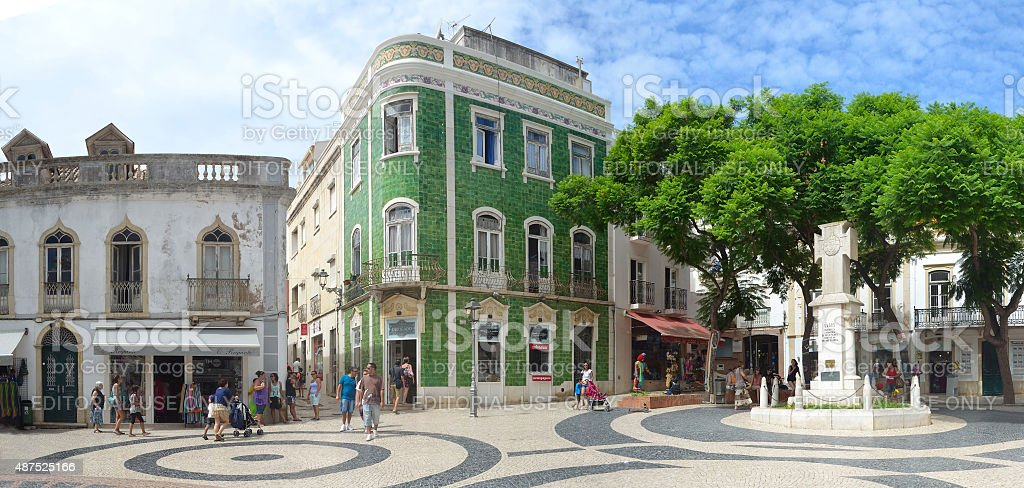 Lagos old town square stock photo
