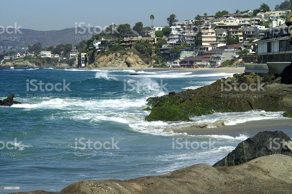 Laguna Beach Coastline royalty-free stock photo