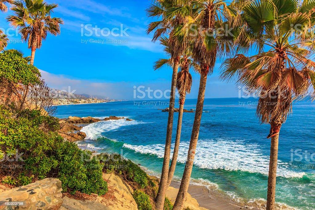 Laguna Beach coastline,Pacific Ocean,Rte 1,Orange County,CA stock photo
