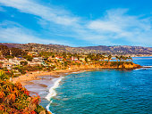 Laguna Beach coastline,Pacific Ocean,Rte 1,Orange County,CA