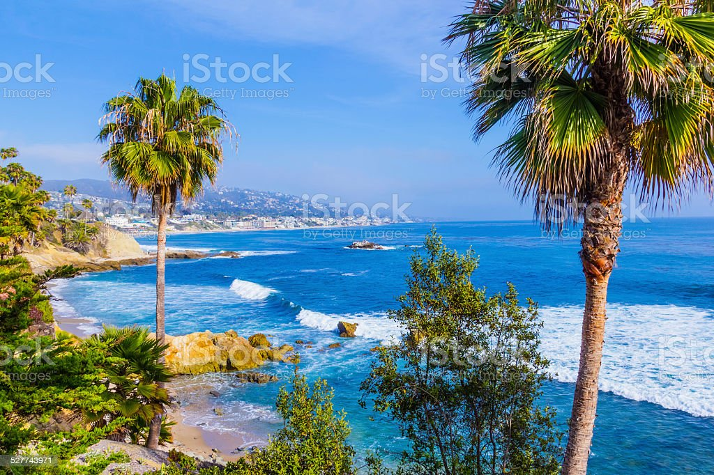 Laguna Beach coastline,Pacific Ocean,Rte 1,Orange County,CA(P) stock photo