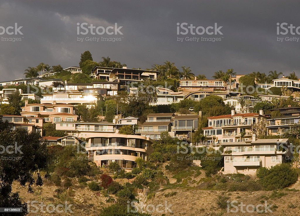 Laguna Beach Homes- Orange County stock photo
