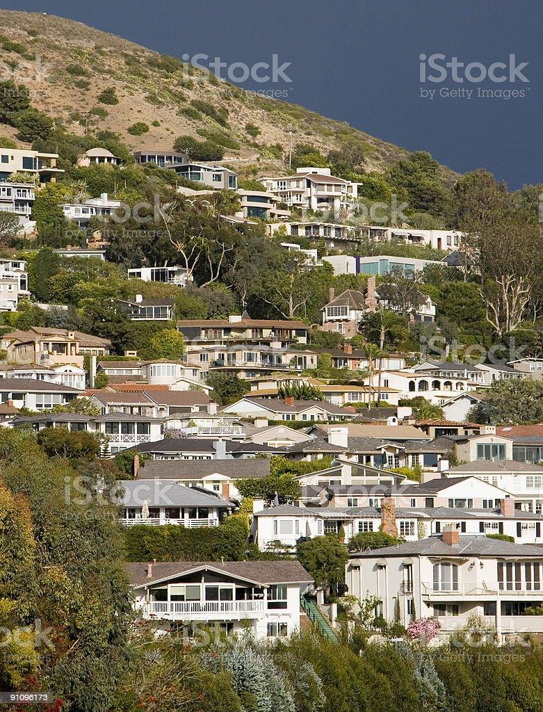 Laguna Beach Homes stock photo