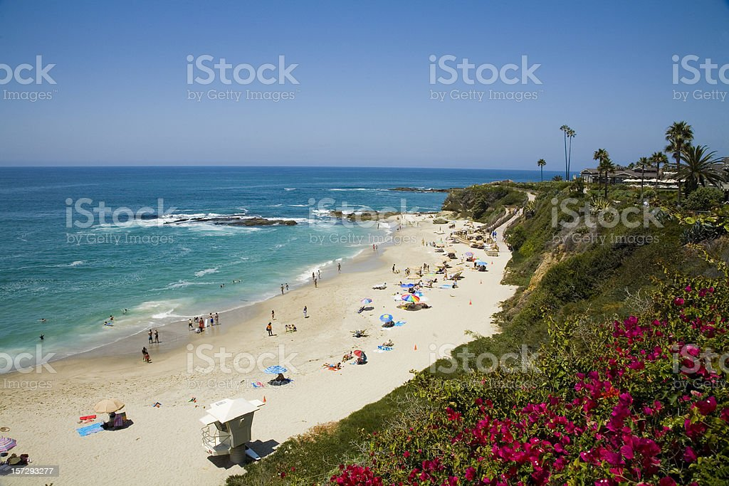 Laguna Beach Resort royalty-free stock photo