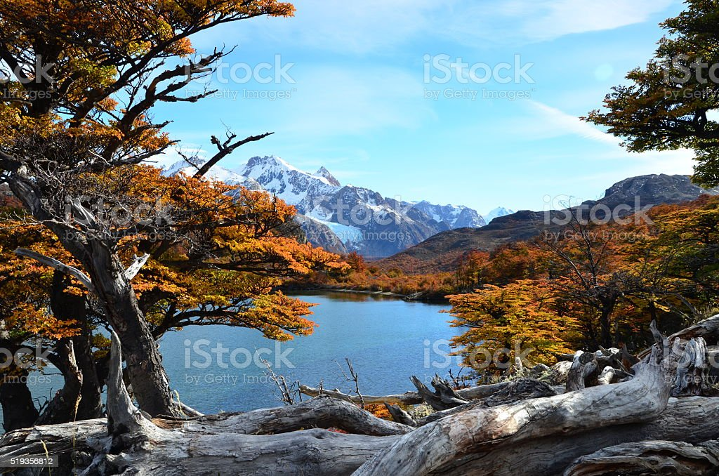 Laguna Capri im Herbst stock photo